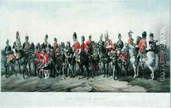 Uniforms of the British Army engraved by J Morris 1859 Oil Painting - Orlando Norie