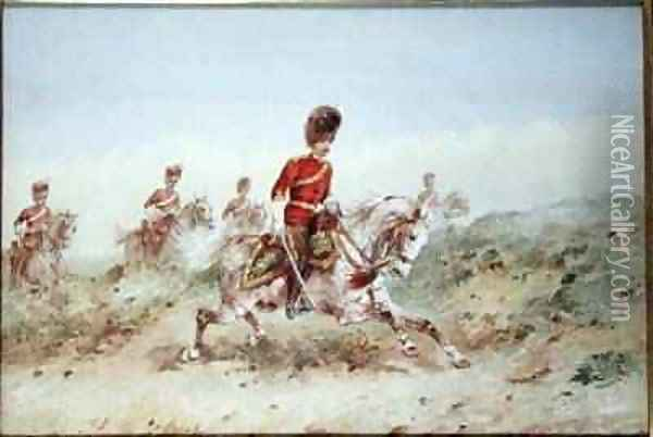 Royal Scots Greys Oil Painting - Orlando Norie