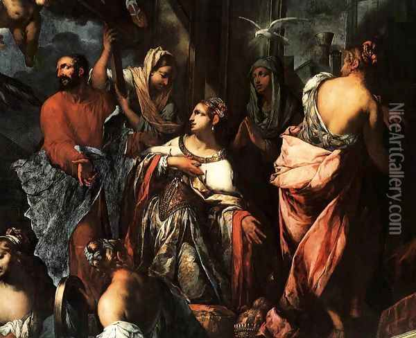 The Madonna Saves Venice from the Plague of 1630, c. 1673 Oil Painting - Pietro Negri