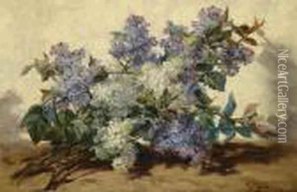 Lilac Oil Painting - Georges Jeannin