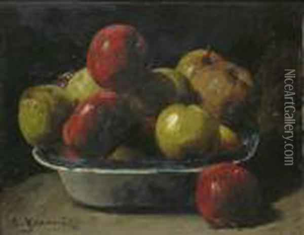 Obststilleben Oil Painting - Georges Jeannin