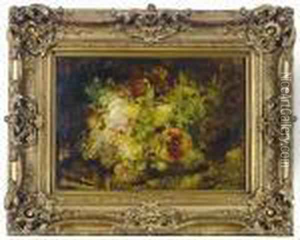 Still Life Of A Bunch Of Flowers Oil Painting - Georges Jeannin