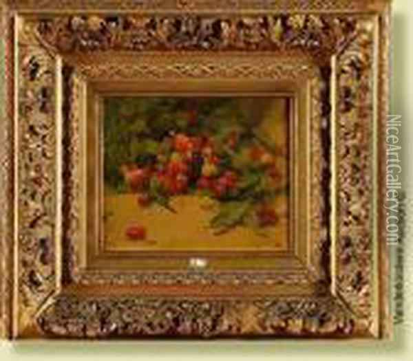 Nature Morte Aux Cerises Oil Painting - Georges Jeannin