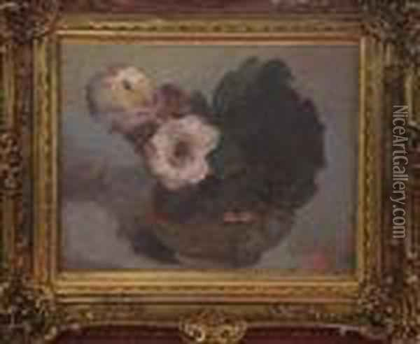 Bouquet De Fleurs Oil Painting - Georges Jeannin