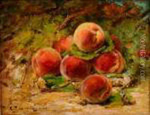 Nature Morte Aux Peches Oil Painting - Georges Jeannin