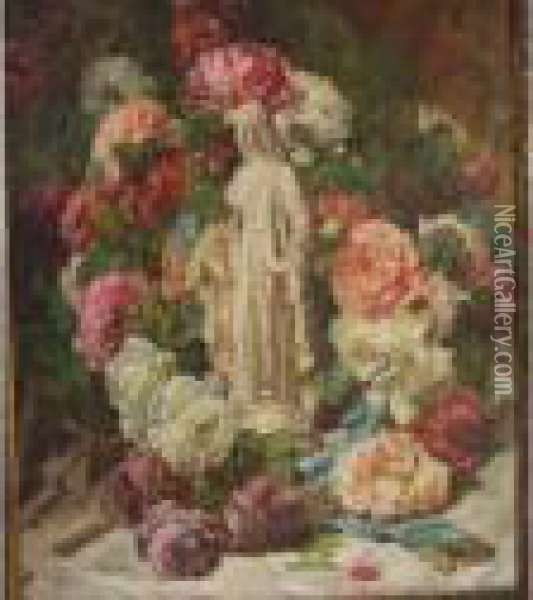 Vierge Aux Roses Oil Painting - Georges Jeannin