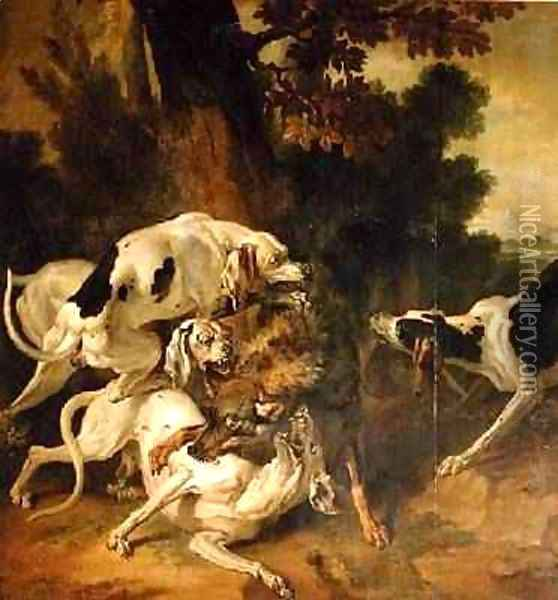 Wolf Hunt Oil Painting - Jean-Baptiste Oudry