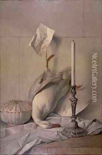The White Duck, 1753 Oil Painting - Jean-Baptiste Oudry