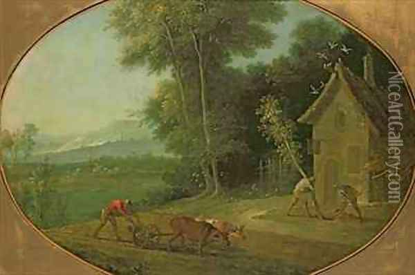 Spring Landscape, 1749 Oil Painting - Jean-Baptiste Oudry