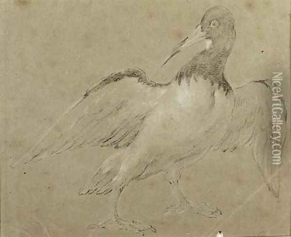 An Oyster Catcher Oil Painting - Jean-Baptiste Oudry