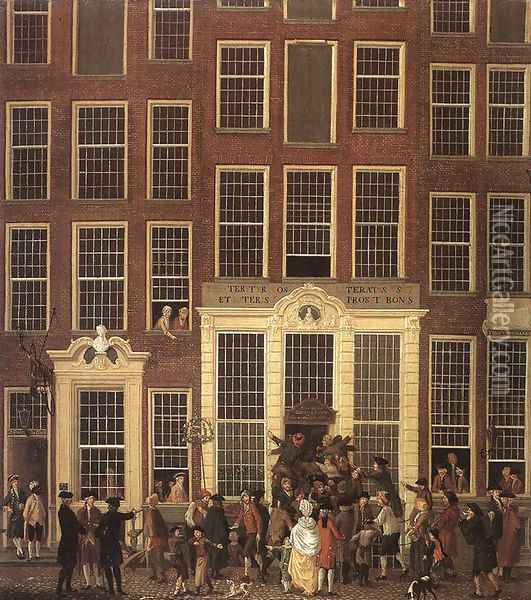 The Lottery Office 1779 Oil Painting - Isaak Ouwater