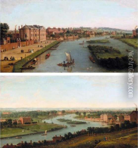 A View Of The Thames At Richmond