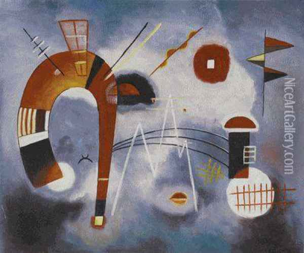 Rond Et Pointu (round And Pointed) Oil Painting - Wassily Kandinsky