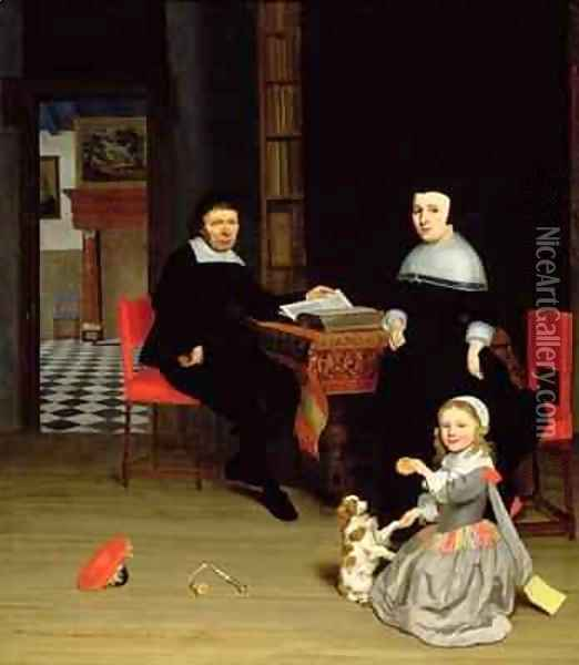 Portrait of a Family 1663 Oil Painting - Jacob Ochtervelt