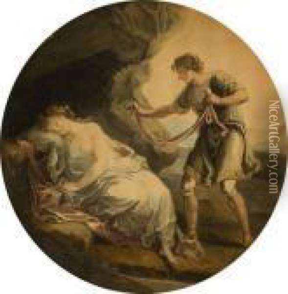 Electra And Chrysothemis Oil Painting - Angelica Kauffmann