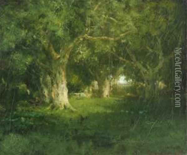 The Quietwoods Oil Painting - William Keith
