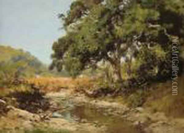 Stream Through The Valley Oil Painting - William Keith
