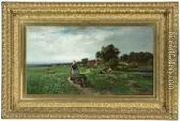 Scene Near Munich Oil Painting - William Keith