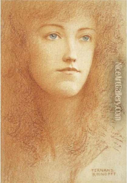 Etude Anglaise Oil Painting - Fernand Khnopff