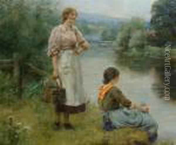 Waiting For The Ferry Oil Painting - Henry John Yeend King
