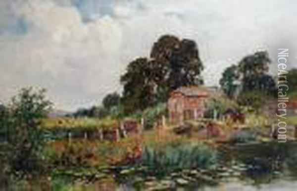 The Mill Pond Oil Painting - Henry John Yeend King