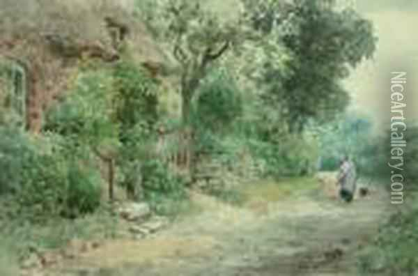 On The Way Home Oil Painting - Henry John Yeend King