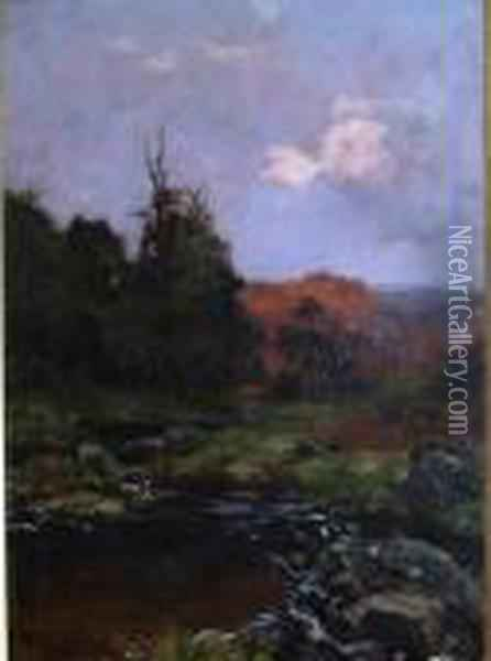 Countryside In The Morning Oil Painting - Henry John Yeend King