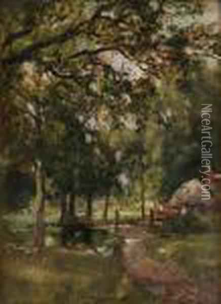 A Woodland Glade Oil Painting - Henry John Yeend King