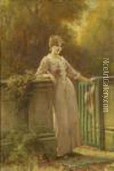 At The Gate Oil Painting - Henry John Yeend King