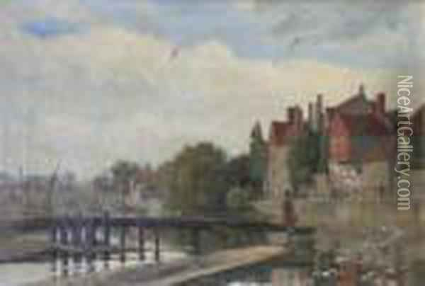 A View At Stourport Oil Painting - Henry John Yeend King