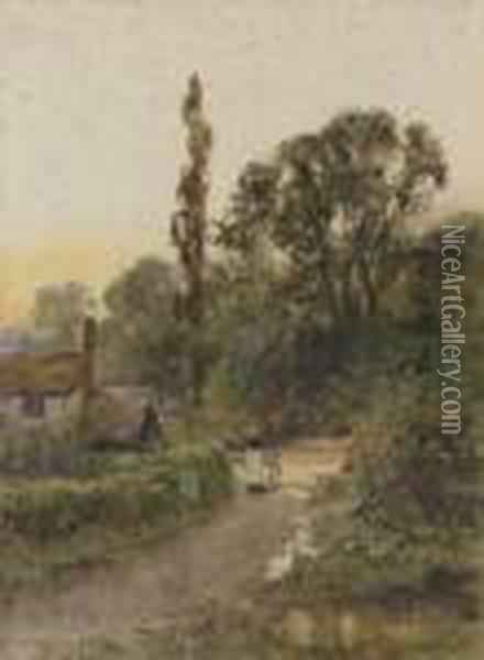 The Road Home Oil Painting - Henry John Yeend King