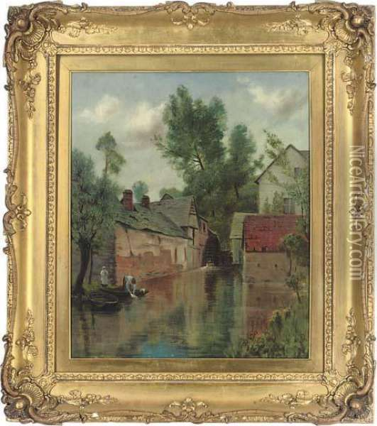 By The Old Watermill Oil Painting - Henry John Yeend King