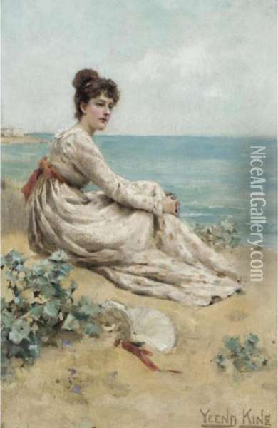 A Rest By The Sea Oil Painting - Henry John Yeend King