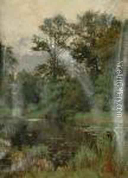 A Tranquil Pool Oil Painting - Henry John Yeend King