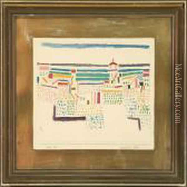 Sudfransosiches Seebal Oil Painting - Paul Klee