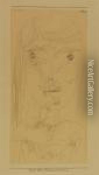 Physiognomisch, Nachm.b. Oil Painting - Paul Klee