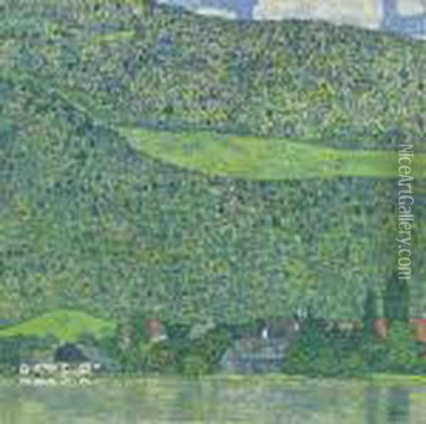 Litzlberg Am Attersee Oil Painting - Gustav Klimt