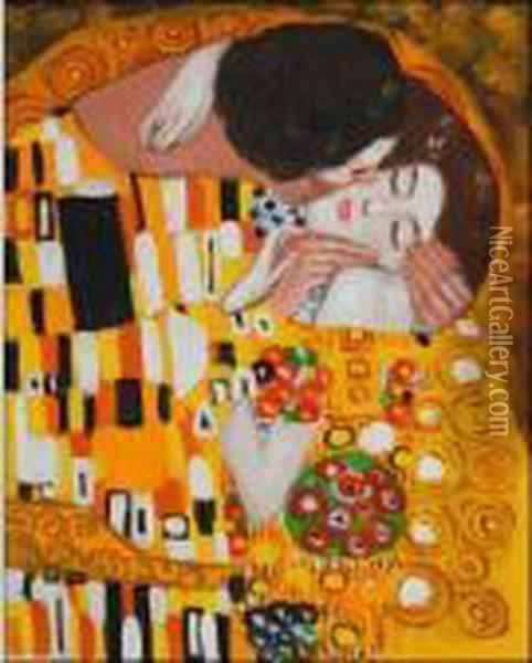 Klimt - The Kiss Oil Painting - Gustav Klimt