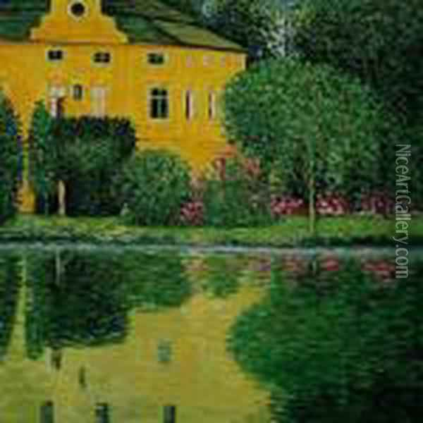 Schloss Kammer On Attersee Oil Painting - Gustav Klimt