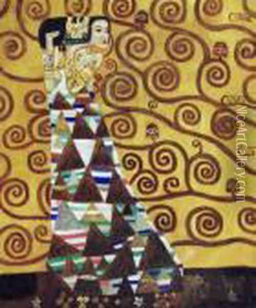 Expectation Oil Painting - Gustav Klimt