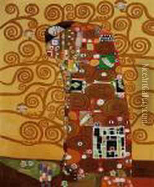 Fulfillment Oil Painting - Gustav Klimt