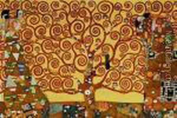 The Tree Of Life, Stoclet Frieze Oil Painting - Gustav Klimt