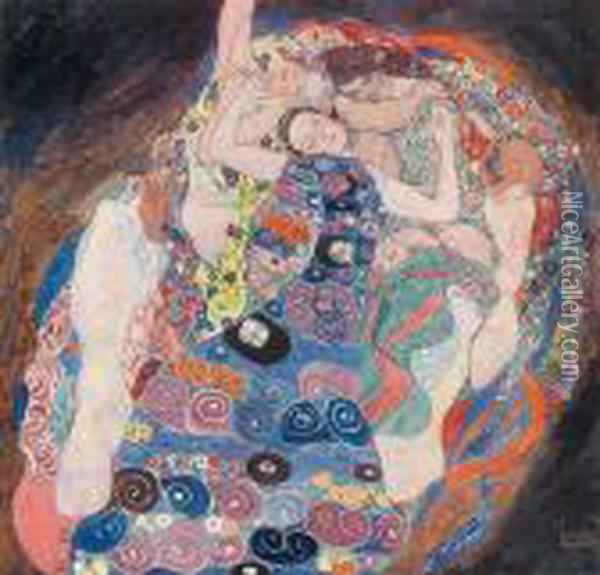 The Work Of Gustav Klimt Oil Painting - Gustav Klimt