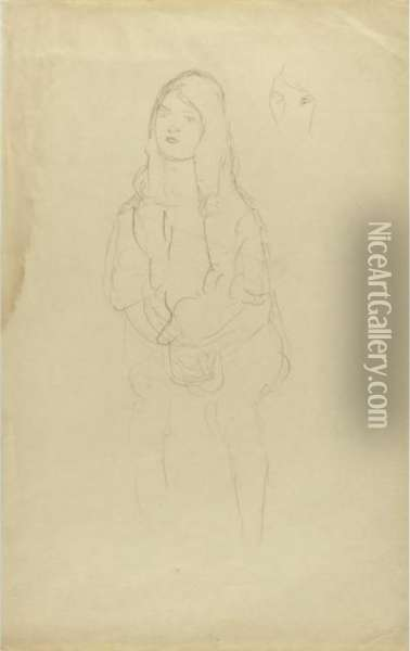 Sitzendes Madchen Nach Links, 