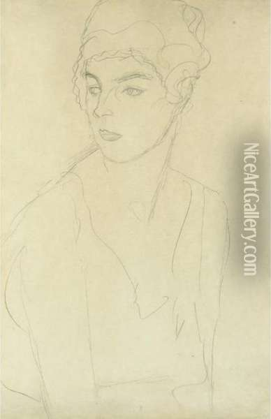 Brustbild Im Drieviertelprofil 