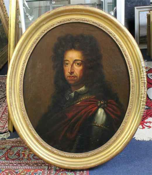 Head And Shoulder Portrait Of William Iii Oil Painting - Sir Godfrey Kneller