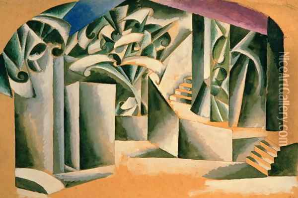 Stage design for William Shakespeare's play 'Romeo and Juliet', 1920 Oil Painting - Lyubov Popova