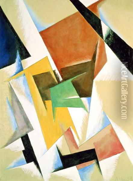 Compostion, 1921 Oil Painting - Lyubov Popova