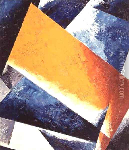 Architectonic Composition Oil Painting - Lyubov Popova