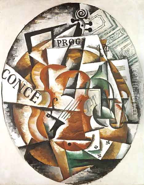 Violin, 1915 Oil Painting - Lyubov Popova